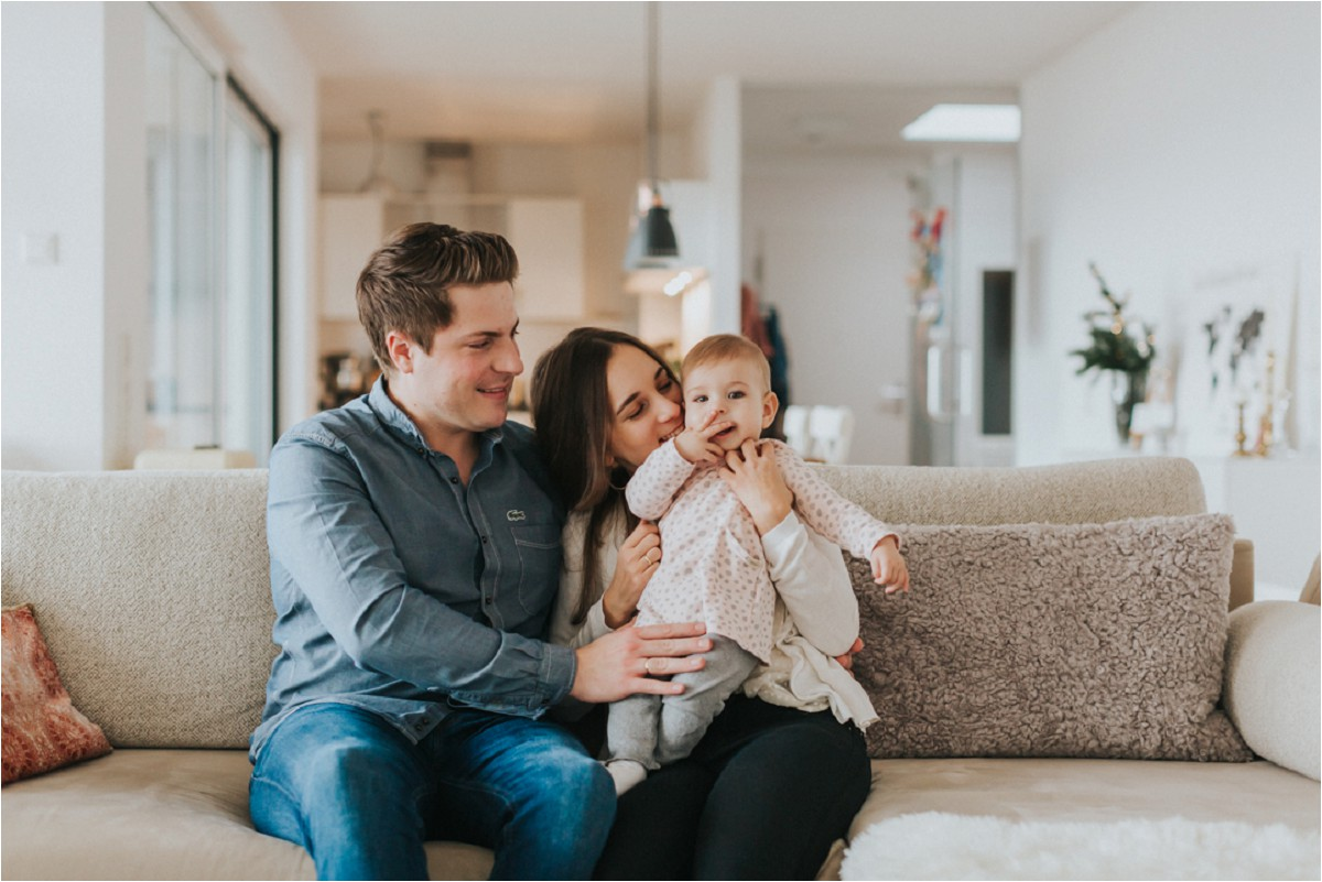 Gemütliches Familienshooting im eigenen Zuhause