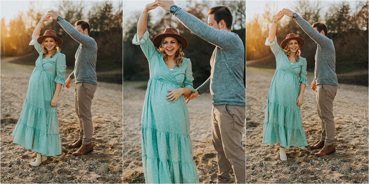 Babybauchkleid für Shooting